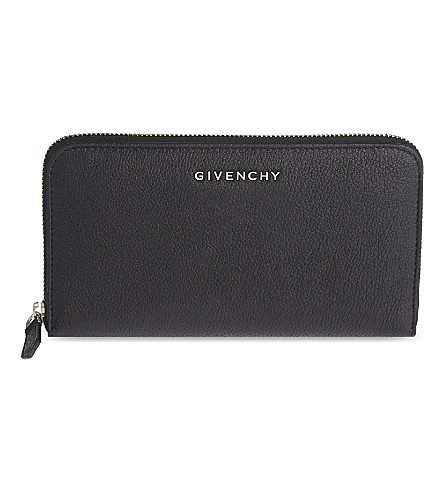 GIVENCHY Pandora leather zip-around wallet (Black