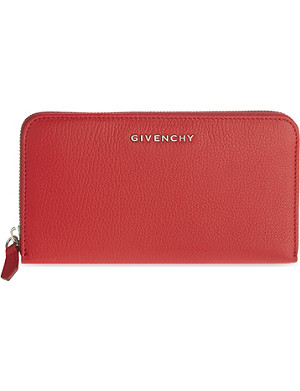 GIVENCHY Long leather zip-around wallet