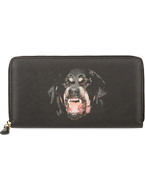 GIVENCHY Rottweiler zip around wallet