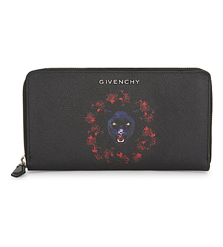 GIVENCHY Jaguar Saffiano leather wallet (Black