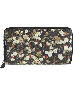 GIVENCHY Floral print zip-around wallet