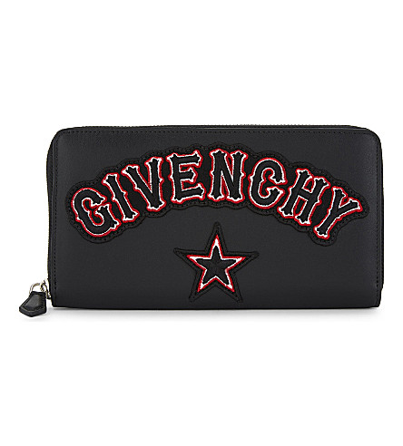 GIVENCHY Gothic long leather wallet (Black