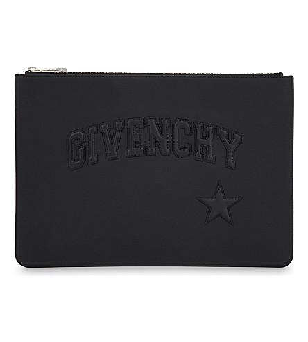 GIVENCHY Logo medium rubber pouch (Black