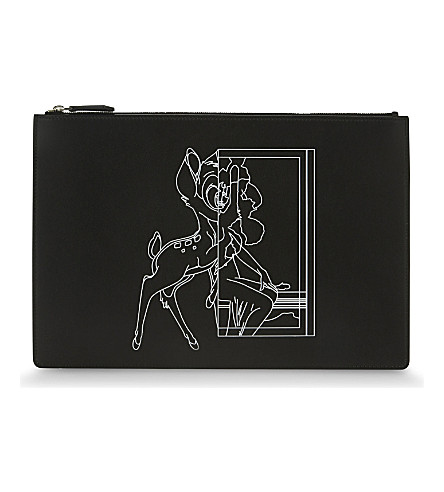 GIVENCHY Bambi medium leather pouch (Black