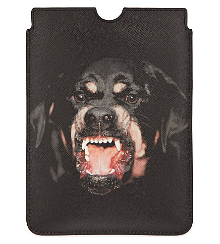 GIVENCHY Rottweiler iPad mini sleeve (Black/multi