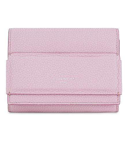 GIVENCHY Horizon Tri Fold leather wallet (Pastel+pink
