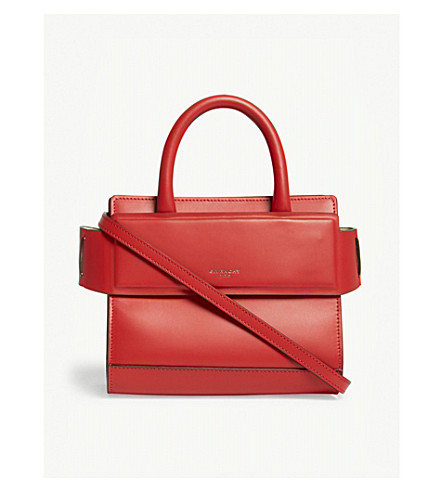 71a68ce54810 GIVENCHY Nano Horizon leather shoulder bag (Red