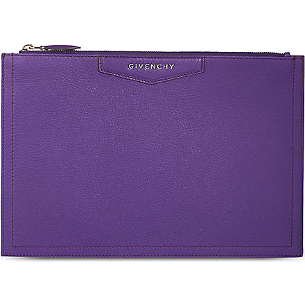 GIVENCHY Antigona medium envelope pouch (Purple