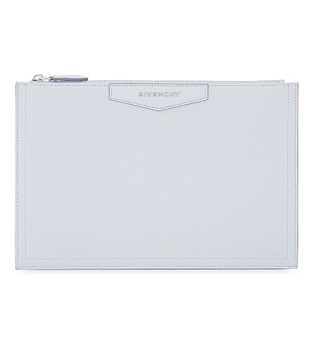 GIVENCHY Antigona leather pouch (Baby+blue