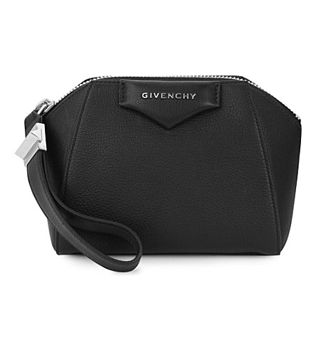 GIVENCHY Antigon leather cosmetic case (Black