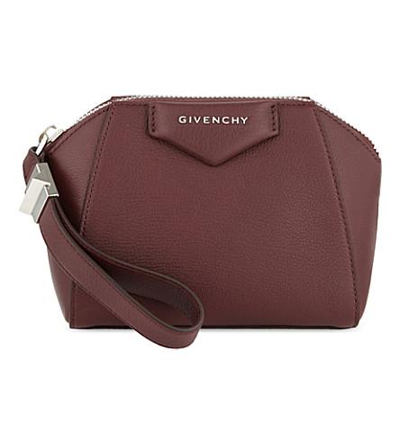 GIVENCHY Antigona leather cosmetic case (Oxblood