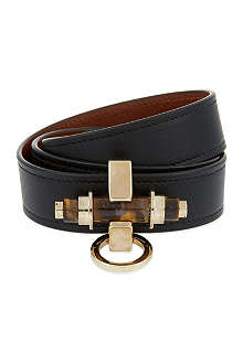 GIVENCHY Three Row Black Obsedia Bracelet