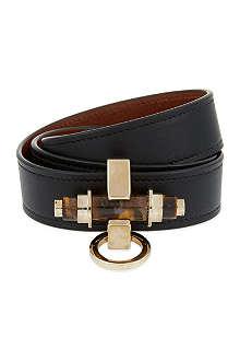 GIVENCHY Three Row Black Obsedia Bracelet
