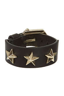 GIVENCHY Star studded leather bracelet