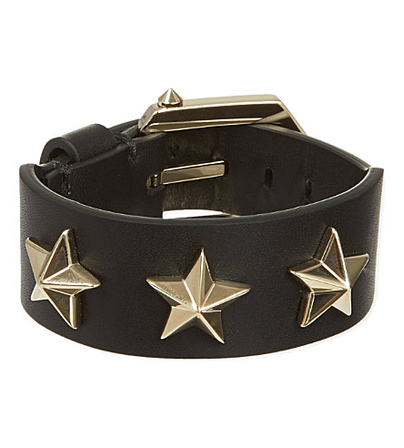 GIVENCHY Star studded leather bracelet (Gold