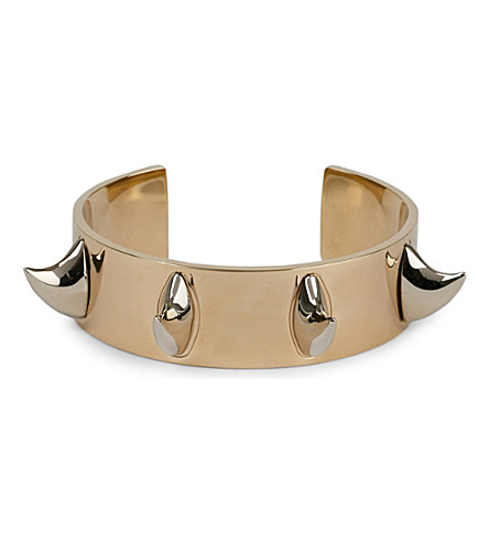 GIVENCHY Shark tooth bracelet (Gold/silver