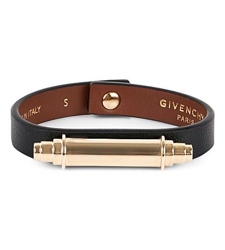 GIVENCHY Obsedia leather bracelet (Black
