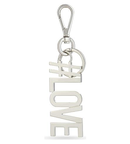 GIVENCHY #Love Keyring (Silver