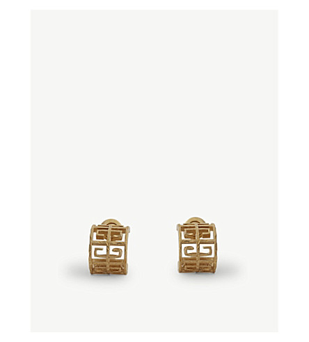 GIVENCHY Logo stud earrings (Gold