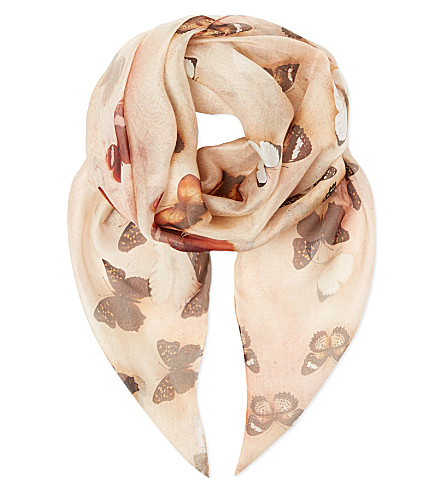 GIVENCHY Butterfly scarf (Multi