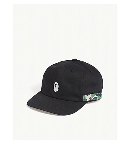 A BATHING APE Camo cotton cap (Black