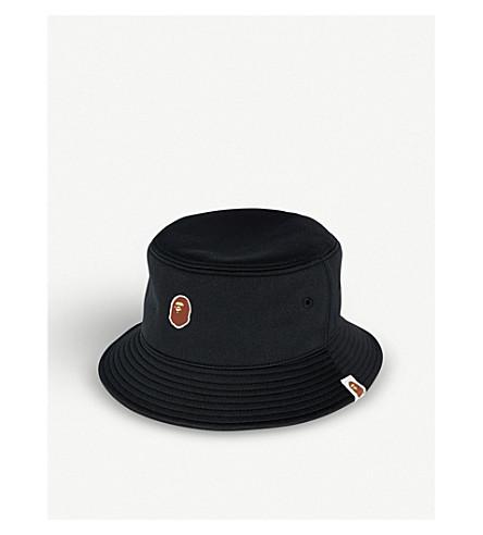 A BATHING APE Ape Head-logo bucket hat (Black