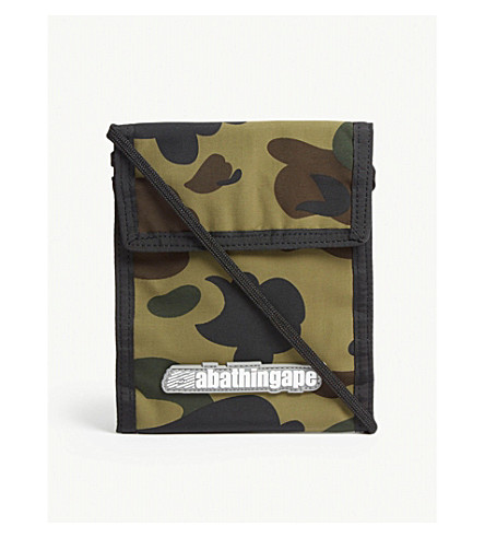 A BATHING APE Camouflage pass holder