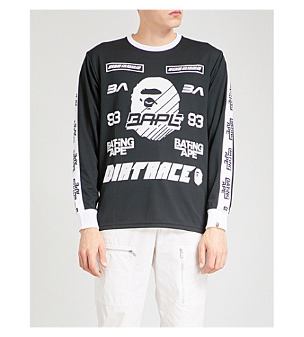 A BATHING APE BMX sports mesh top (Black