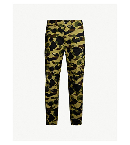 A BATHING APE Mix Camo cotton trousers (Green
