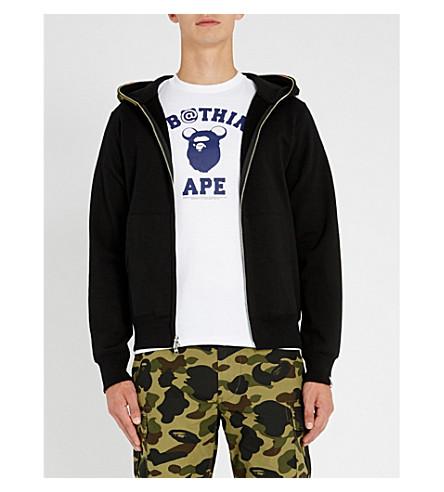 A BATHING APE Shark cotton-jersey hoody