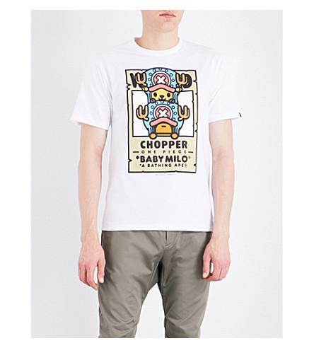 A BATHING APE A BATHING APE X ONE PIECE Chopper Milo Bounties cotton-jersey T-shirt (White