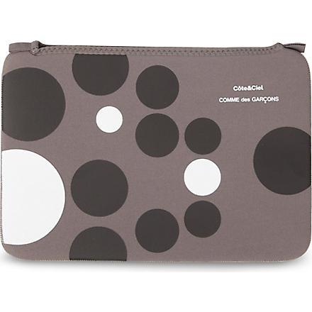 COMME DES GARCONS Dots 11 inch laptop bag (Grey