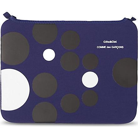 COMME DES GARCONS Dots 13 inch laptop bag (Blue