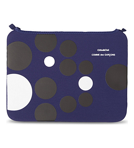 COMME DES GARCONS Dots 13 inch laptop bag (Blue