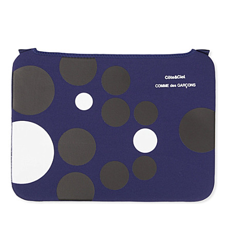 COMME DES GARCONS Dots 15 inch laptop bag (Blue