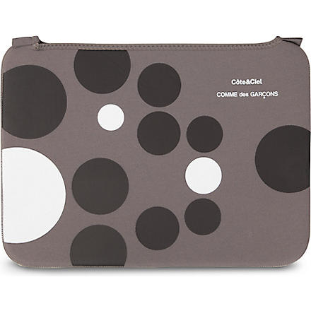 COMME DES GARCONS Dots 15 inch laptop bag (Grey