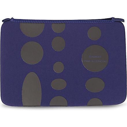 COMME DES GARCONS Dots 11 inch laptop bag (Blue