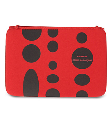 COMME DES GARCONS Dots 11 inch laptop bag (Red