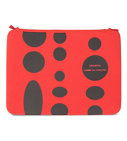 COMME DES GARCONS Dots 13 inch laptop bag (Red