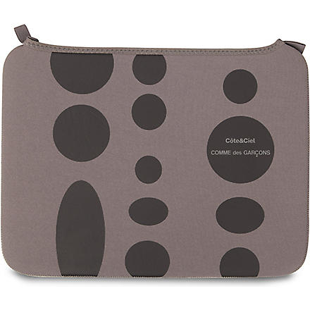 COMME DES GARCONS Dots 13 inch laptop bag (Grey