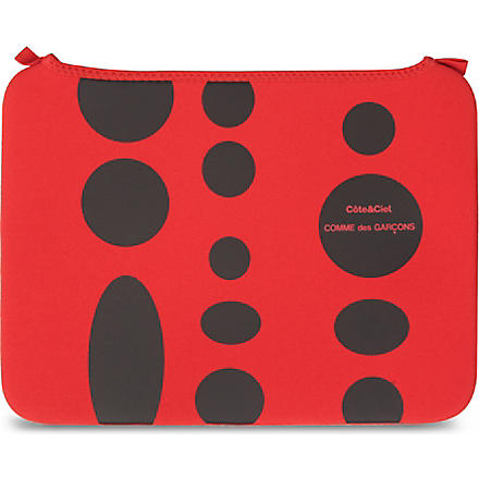 COMME DES GARCONS Dots 13 inch laptop bag (Red