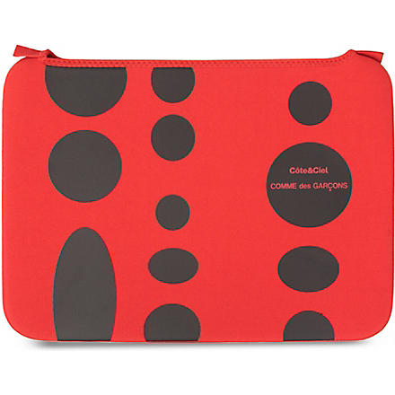 COMME DES GARCONS Dots 15 inch laptop bag (Red