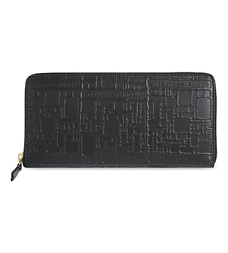 COMME DES GARCONS Embossed purse (Black