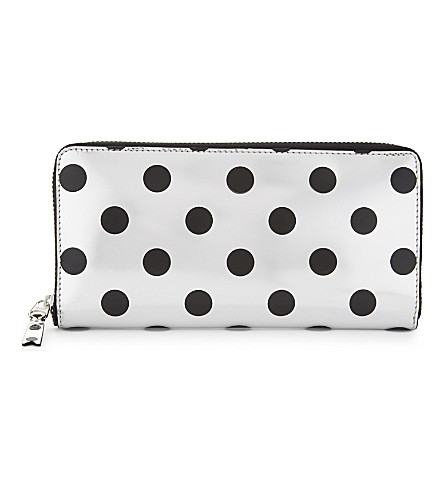 COMME DES GARCONS Optical spotted leather wallet (Black/silver