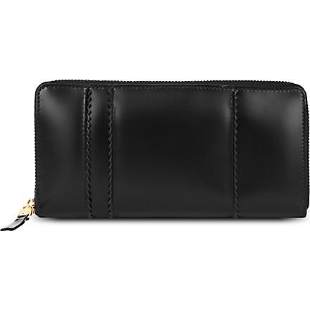 COMME DES GARCONS Raised spike purse (Black