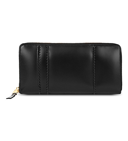 COMME DES GARCONS Raised spike purse (Black