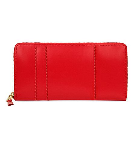 COMME DES GARCONS Raised spike purse (Red