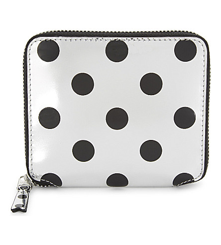 COMME DES GARCONS Metallic leather wallet (Black/silver