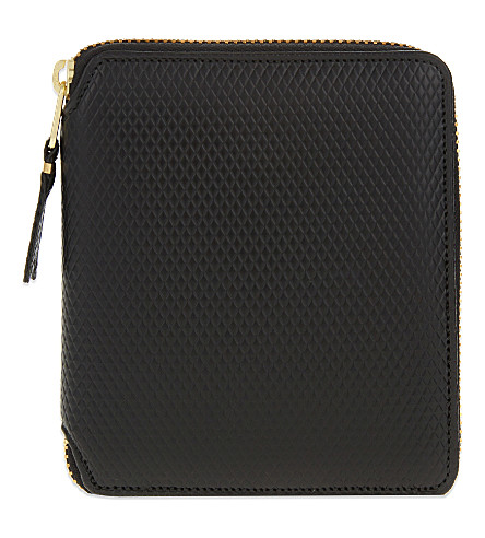 COMME DES GARCONS Square textured leather wallet (Black