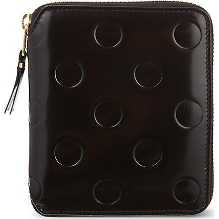 COMME DES GARCONS Polka-dot embossed pouch (Black